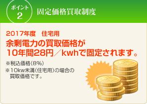 10年間31円固定価格買取