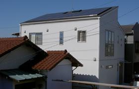 事例4.差しかけ屋根(片流れ)・スレート葺き